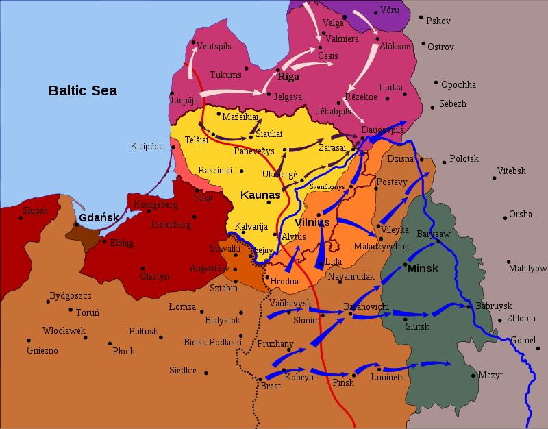 Наступление польских войск, 1919 г.