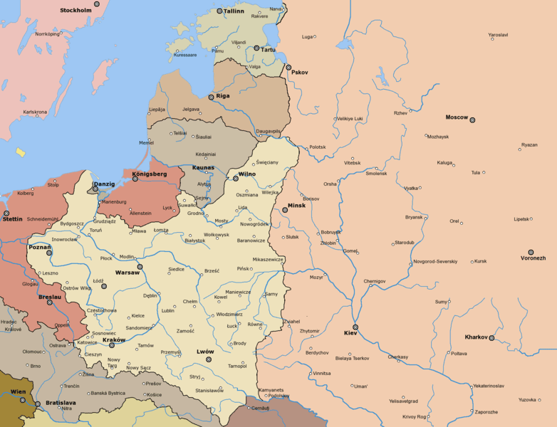 Границы Польши по итогам войны